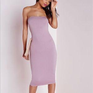 Jersey Bandeau Midi dress